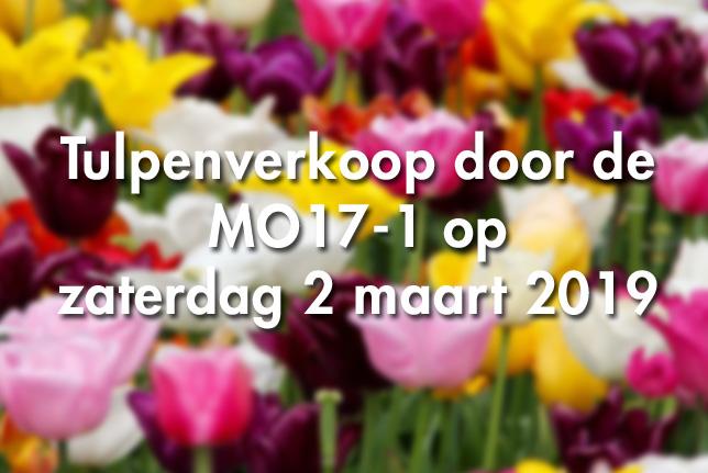 Tulpenverkoop door de MO17-1 op zaterdag 2 maart 2019