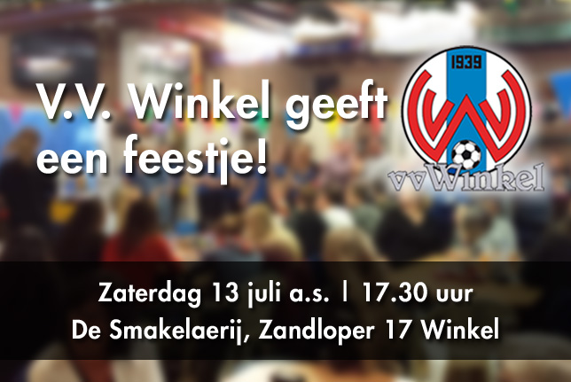 v.v. Winkel geeft een feestje!