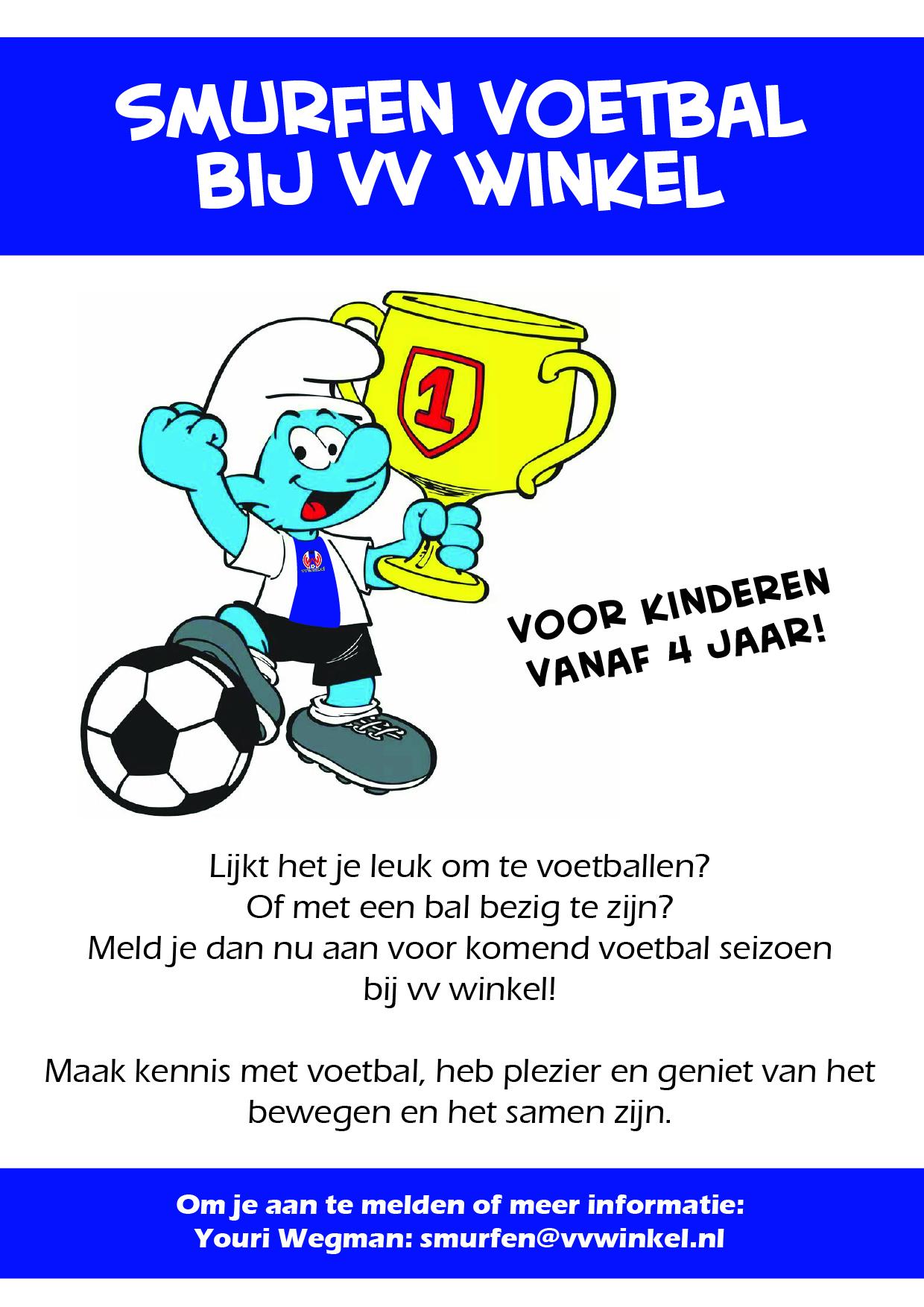 Smurfen voetbal bij vv Winkel!